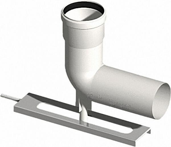 EVENES Kunststoff-Abgassystem Schachteinführung mit Auflager DN 80