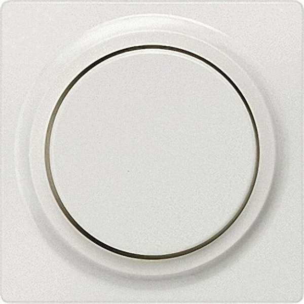 Abdeckplatte mit Drehknopf titanweiß/ Schutzart IP20 für Dimmer / 1 Stück