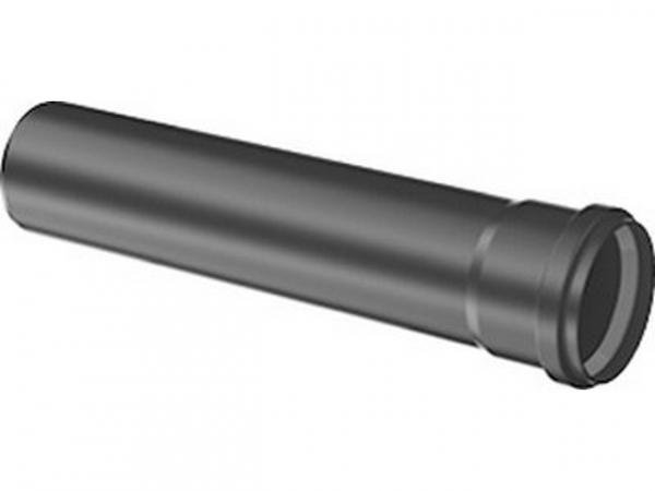 Buderus Abgasrohr mit Muffe, 250 mm, Schwarz, UV-stabil, 7738112737