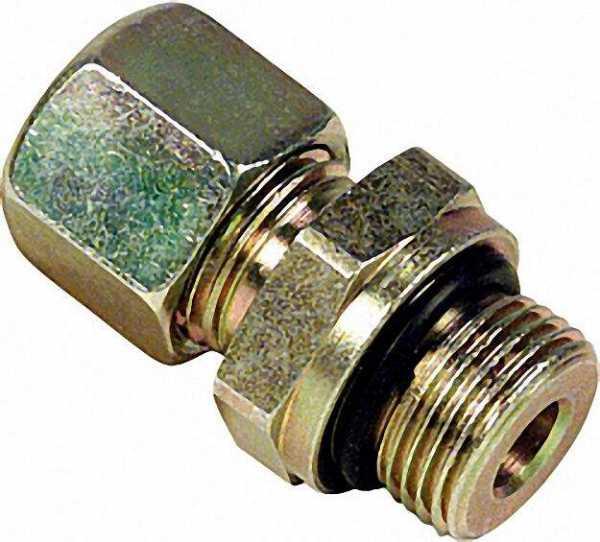 GOK Schneidring-Verschraubung 10x3/8'', zylindrisch mit O-Ring + MS-SR kurze Ausführung