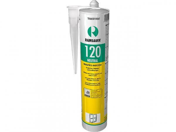 RAMSAUER Neutral 120, transparent, neutrale dauerelastische 1-K-Silicon Dichtungsmasse, 310 ml