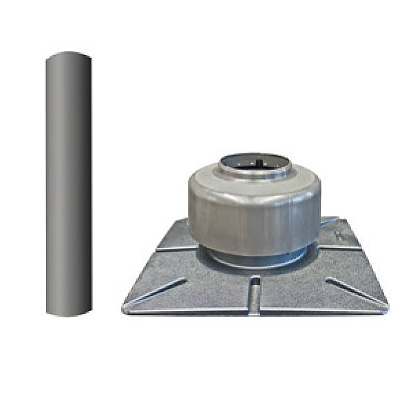 TTC Abgas Basispaket, zweiteiliger Typ PP, DN 80 mm, Kunstoff