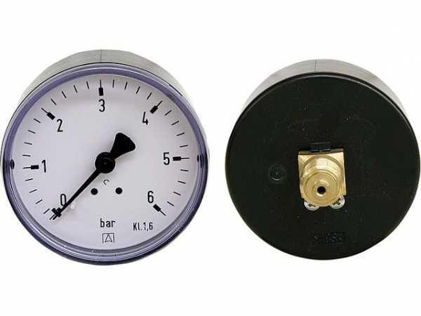 Manometer 0-25 bar 63 mm für G1/4 DN 8 1/4' axial