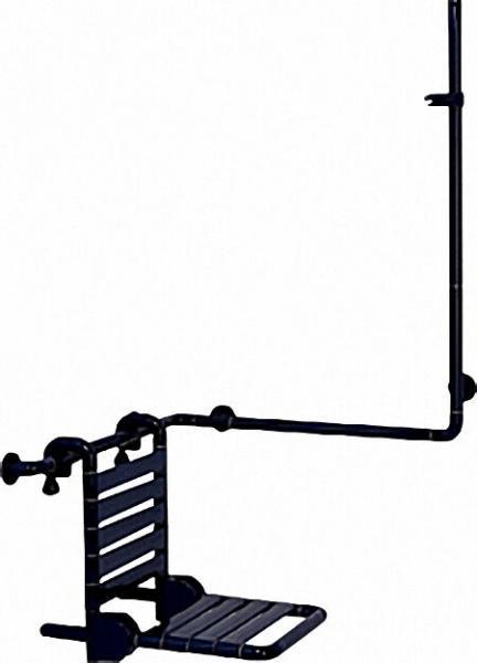Duschhandlauf mit Brausehalterstange 763x400x1158mm/ inkl Befestigung Farbe: Blau 11