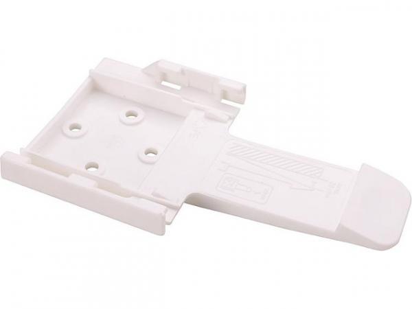 Hemmschuhhalter aus Kunststoff weiß, 90mm