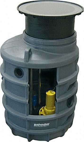 komplettpumpenstation AE1200 im Kunststoffschacht FPS-Basis 1200mm / D 600mm