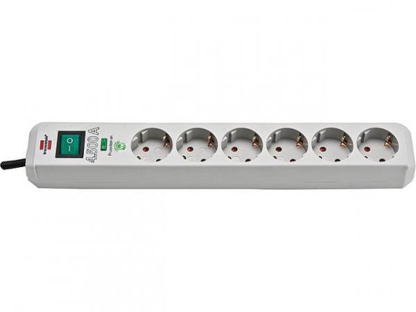 Brennenstuhl 1159750015 Überspannungsschutz Steckdosen- leiste - 6-mal Geräteschutz PC-Grau