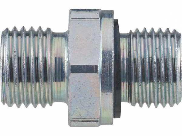 Spezialnippel mit Perbunan O-Ring 1/8'' zylindrisch x LL 6, passend zu Ölschl. für Körting, Elco