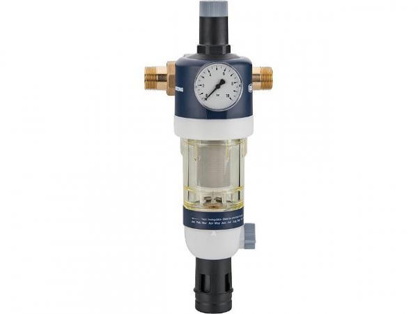 """Hauswasserstation DN 25 1"""" Mit Druckminderer und Manometer min. 1,5 bar max. 16 bar Messing/Kunststoff"""