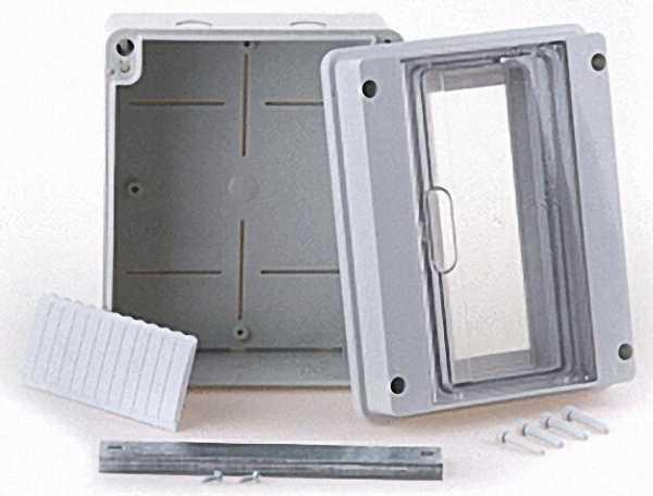 Kleinverteiler grau, 1x8 Automaten LxHxT: 202x162x98mm