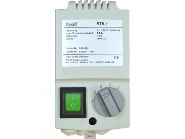 KROLL 5 Stufenschalter, ST5-1 S für Luftheizer LH120-530