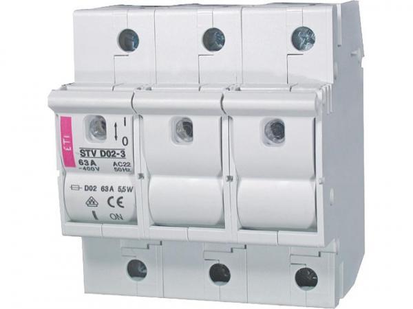 Neozed Sicherungslasttrennschalter STV D02 bis 63A, 3-polig