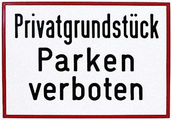 Hinweisschild ''PrivatgrundStück. . . '' 25x35cm Aluminum, wetterfest