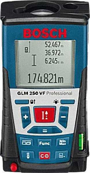BOSCH 3601K72100 Entfernungsmesser GLM 250 VF 120 x 66 x 37mm 0, 24 Kg