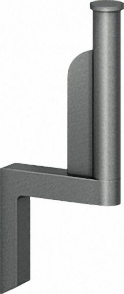 Ersatzrollenhalter Serie Cavere aus Alu., Anthrazit-Metallic 95, 190x81mm, mit Befestigung