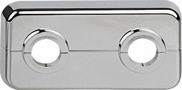 Klapprosetten, doppelt ABS, verchromt, VPE 10 LxBxH= 95 x 50 x 7mm, D= 15mm