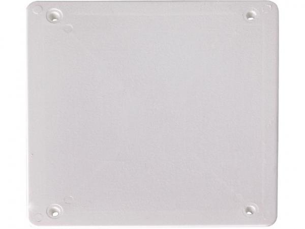 Ersatzdeckel Verbindungskasten 100x100mm weiß / 1 Stück