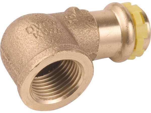 Rotguß Pressfitting Gas Winkel 90° mit IG 22x3/4 PG 4090G Gas