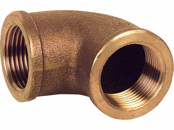 Rotguß-Gewindefitting Winkel 90° Typ 3090 1/2'' ixi