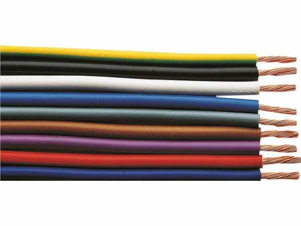 Isolierte Starkstromleitung H07V-K flexibel, 1x2, 5 schwarz - Rolle a 100m