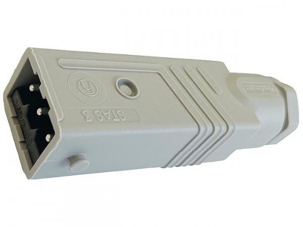 Hirschmann Steckverbinder 3-polig für Leiter bis 1,5mm² Ausführung: STAS 3 mit Bügel