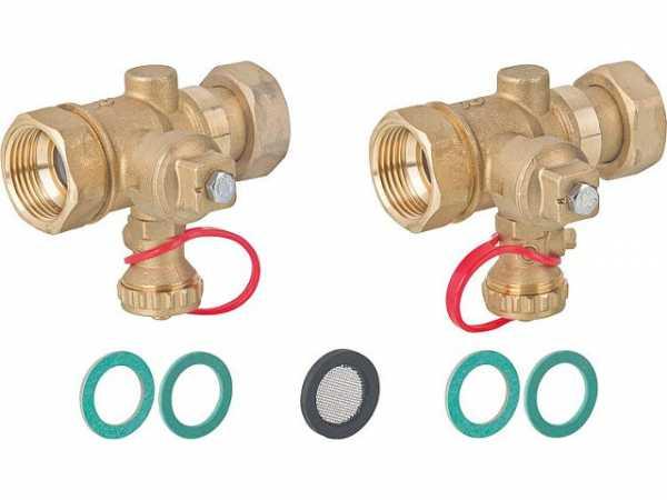 Spül- und Absperr-Set DN25(1') für Plattenwärmetauscher
