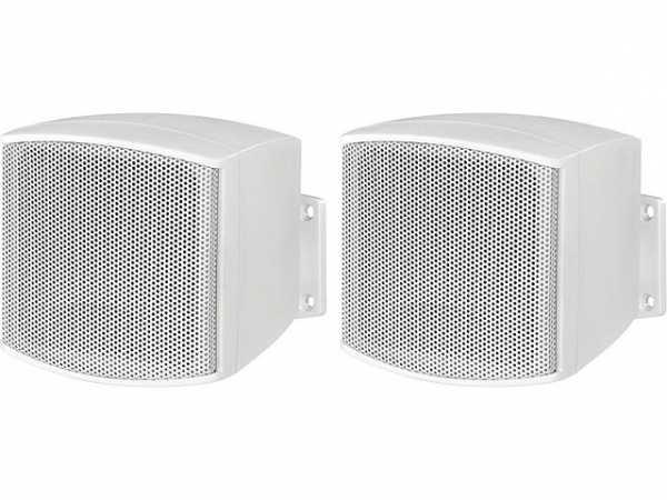 Miniatur Lautsprecherboxset 10W, weiß