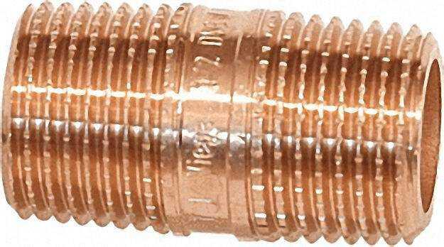Rotguß-gewindefitting Rohrdoppelnippel Typ 3530 3/4''x 80mm