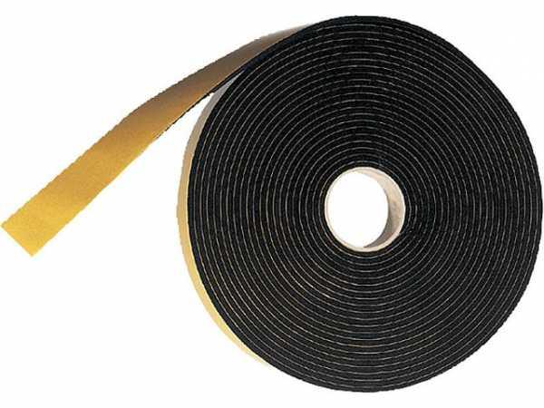 Zellgummi-Streifen selbstklebend, schwarz B: 30 mm, S: 4 mm, L: 10 m