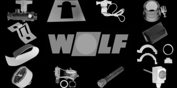 WOLF 8903098 Verkleidung Rückwand, Silber