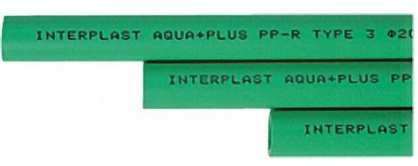 PPR Rohr Aqua-Plus d = 20x3,4 mm in Stange 1,95 m
