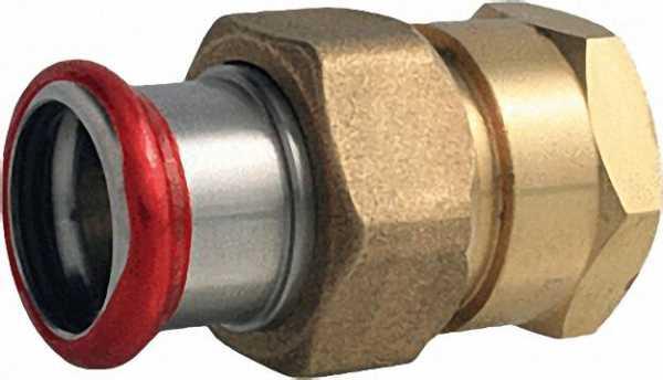 """C-Stahl Pressfitting Durchgangsverschraubung mit Innengewinde flachdichtend 54-Rp2"""""""