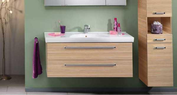 LANZET 7107712 K3 Waschtischunterschrank 118/48/43,5 Weiß/Grafit,2 Schubladen