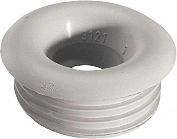 Gummi-Spülrohrverbinder hell für Druckspühlrohre D 28/32mm Anschluss=48mm/ ohne Rosette