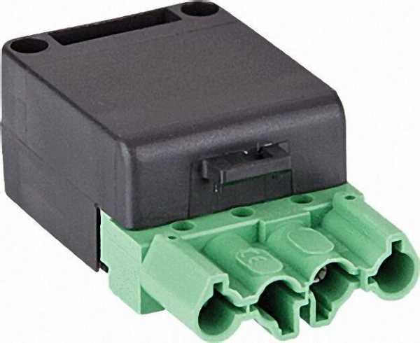 Kupplung 4-polig grün/schwarz, 250/400V, 16A System Wieland