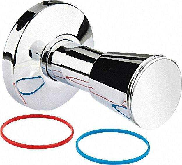 Ventil-aufputzset für TEC - Montageblock Kaltwasser/Warmwasser