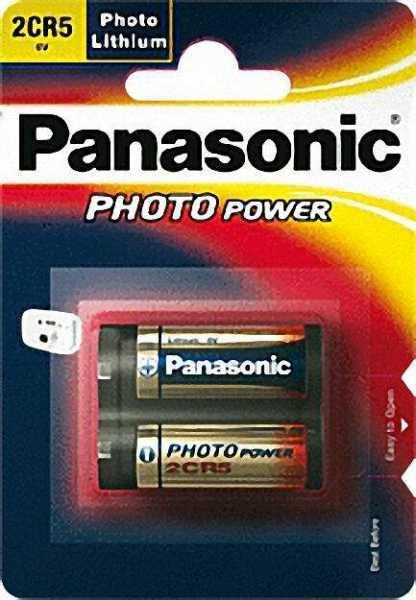 PANASONIC Fotobatterie Lithium 2CR-5MEP, 6 V 34 x 17 x 45mm 1 Stück