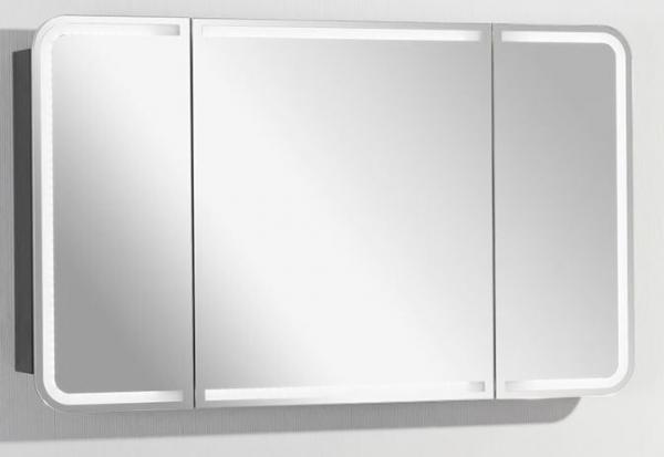 LANZET 7598112 Spiegelschrank 120x70x13, Dekor Dark Oak , LED in Tür