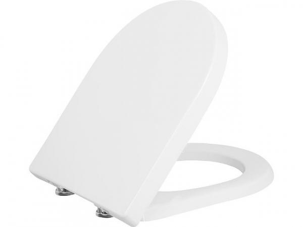 WC-Sitz Jari, weiß, Softclose, aus Duroplast, Edelstahlscharnier