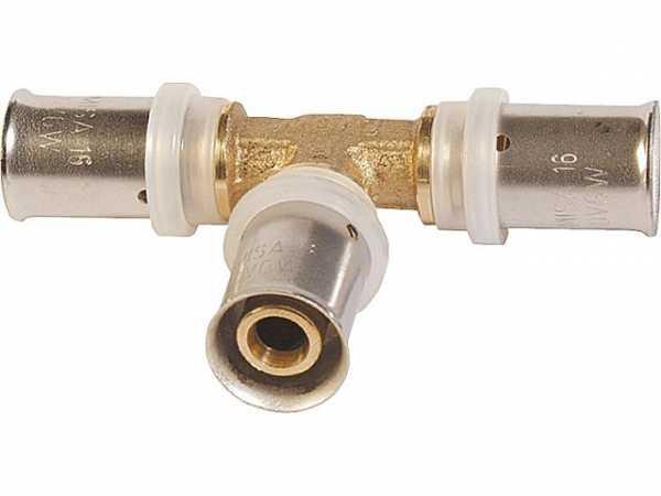 Pressfitting für MSVR T-Stück mit gleichen Abgängen 63x6mm TH-Kontur