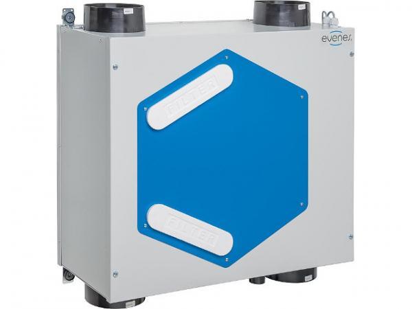 KWL EVENES HRV 20 3-stufig bis 200m³/h, Wand- und Deckenmontage