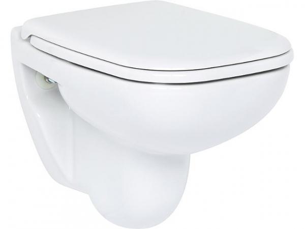 Wand-WC Duravit D-Code Compact 480 mm, Tiefspüler, weiss