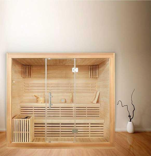 Sauna Athen XL, Hemlocktanne, mit Sternenhimmel