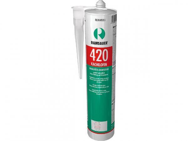 RAMSAUER Kachelofen 420, temperaturbeständige Fugendicht- masse, reinweiß, 310 ml