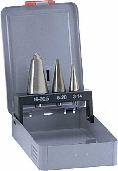 ALPEN HSS Blechschälbohrersatz 3-tlg. d = 3-30mm