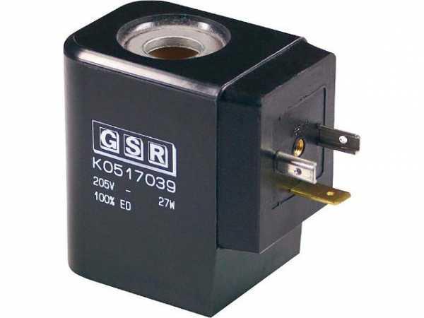 GSR Ersatzmagnetspule für 3/4'' und 1'' Magnetventil A 432_ 1002 702 VDC 230 V 30 Watt inkl. Gleichr