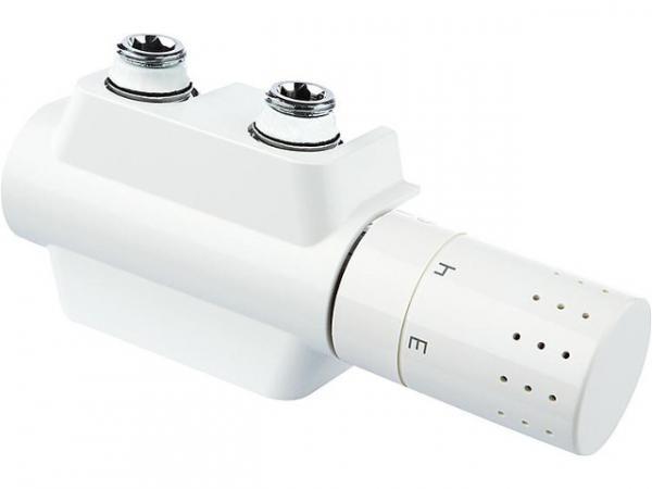 Ventilhahnblock Simplex Variodesign,für Einrohr- und Zweirohrsysteme,weiß