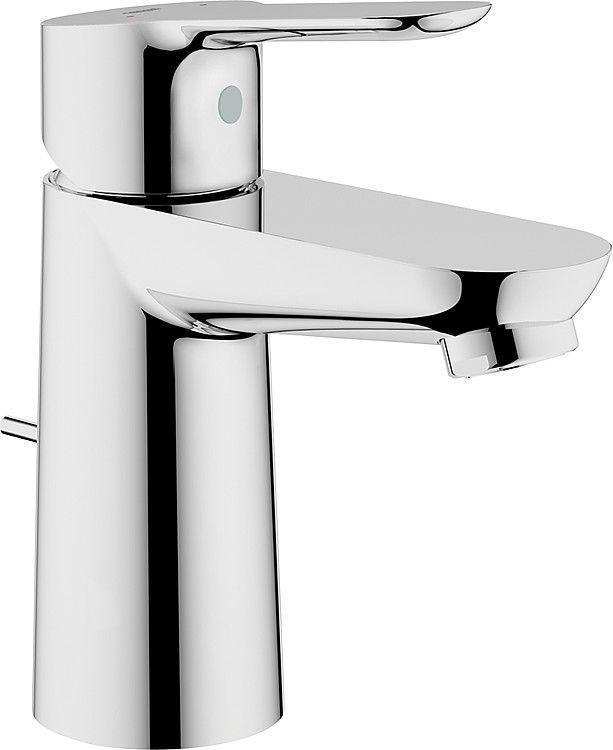 Waschtischmischer BauEdge mit Ablaufgarnitur/Metall, chrom