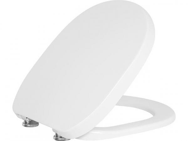 WC-Sitz Vacacai,weiß Softclose, aus Duroplast, Edelstahlscharnier