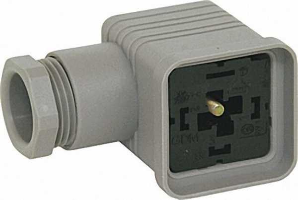 Leitungsdose, grau 3pol. +E passend für Gas-Multi-Bloc 405/407/410/412